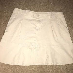Khaki Lacoste Skirt